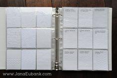 How to organize embossing folders. JanaEubank_EmbossBinder3b