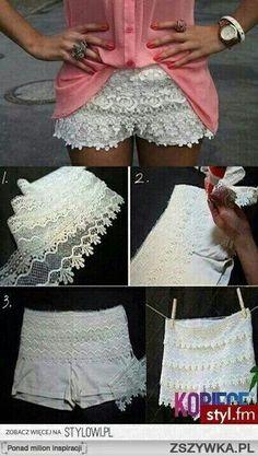 Recupero vecchi pantaloncini bianchi!  #diy #whitepants
