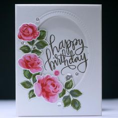 Happy Birthday Roses and Gold - Scrapbook.com