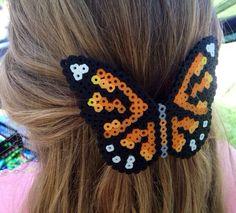 Monarch Butterfly Large Hair Bow Barrette by PinkCoyoteDreams