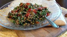 lentil tabouli--I make tabouli with any grain or bean.
