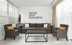 NEVER STOP EXPLORING Wall Decal / Travel Wall Sticker / Home