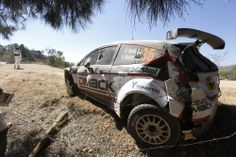 Ott Tänak crashing his Ford Fiesta R5 at Rally Mexico 2014.