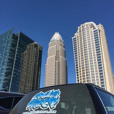 Another Beautiful day in the Queen City!! #carolinastickers #cltstickers #charlottenc #carolinablue #graphics #windowgraphics #stickers #slaps #signs #printing