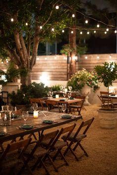Santa Monica's New Fia Restaurant Feels Like a Secret Celebrity Backyard Party - Eater LA Outdoor Restaurant Design, Outdoor Restaurant Patio, Restaurants Outdoor Seating, Rustic Restaurant, Rooftop Restaurant, Restaurant Ideas, Outside Seating Area, Outdoor Seating Areas, Outdoor Dining