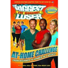 "DVD Review in Brief:  ""The Biggest Loser—At-Home Challenge""—First ,Trainer Anna Kournikova leads a warm-up, followed by the Phase 1 Cardio workout, an intermediate set of exercises in which aerobic segments alternate with short recovery periods.  Next Trainer Dolvett Quince leads the Phase 1 Strength workout which is all about body weight training.  Standing moves alternate with plank position moves.  Then Trainer Bob Harper leads the more advanced Phase 2 Cardio and Strength workouts…"