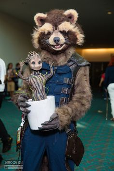 Rocket and Baby Groot | San Diego Comic Con 2015