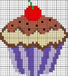 Patrones de cupcakes en punto de cruz  - Cupcake cross stitch patterns