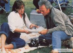 On the set of The Bridges of Madison County, 1995