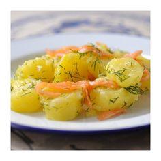 Salade pommes de terre truite fumee aneth