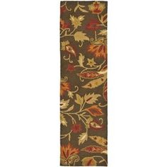 Safavieh Blossom Brown Hand-Hooked Wool Runner (Common: 2-ft x 12-ft; Actual: 2.25-ft x 11-ft)