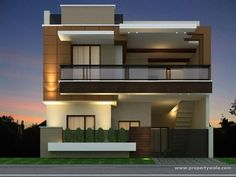 New Ideas House Plans Modern Farmhouse Design Duplex House Design, House Front Design, Modern House Design, Independent House, 3d Home, House Elevation, Front Elevation, Contemporary Architecture, Contemporary Garden