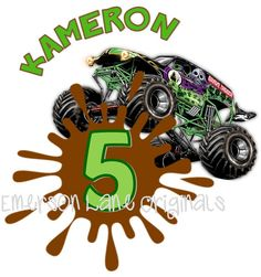 FOR MELISSA : Monster Truck  IMAGE ONLY by EmersonLaneOriginals on Etsy, $6.00