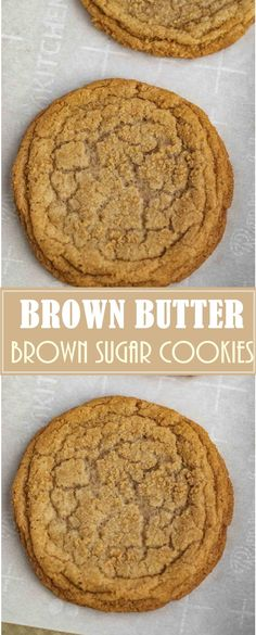 BROWN SUGAR COOKIES - Brown Sugar Cookies made with dark brown sugar and butter are sweet, soft, chewy, and the PERFECT spin on the traditional cookie ready in under 30 minutes! Brown Butter Cookies, Butter Cookies Recipe, Peanut Butter Cookies, Yummy Cookies, Cookies With Brown Sugar, Recipes With Brown Sugar, Brown Sugar Cookie Recipe, Cookie Butter, Köstliche Desserts