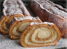 Rustikální kynutý ořechový závin   NejRecept.cz Nutella, Food And Drink, Bread, Cake, Quilling, Dios, Bedspreads, Brot, Kuchen
