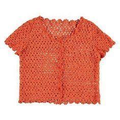Ietsje langer is mooi. Pull Crochet, Mode Crochet, Diy Crochet, Hand Crochet, Crochet Top, Cardigan Au Crochet, Gilet Crochet, Crochet Stitches, Blusas Top