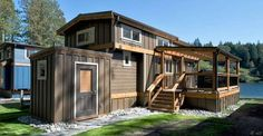 This 400 Sq. Ft. Park Model Tiny House with Add'l 250 Sq. Ft. Loft takes park model tiny homes to a  ...