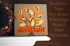 Free Printable Thanksgiving Tree and Leaves