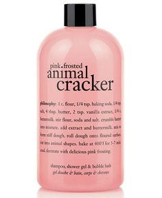 philosophy pink frosted animal cracker 3-in-1 shampoo, shower gel and bubble bath, 16 oz