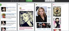 Madonna dashboard - the queen of pop is all ever-active and hard to keep up with.  events, photos, videos, news all in one place so you don't have to look for it yourself. Get real time customized notifications and modify to suit your interests. #Madonna #dashboard #images #news #videos #MDNA