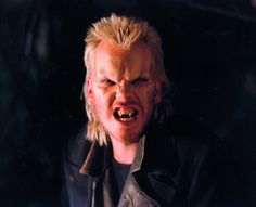 Ve Neill brought us a new breed of vampires in the Lost Boys Lost Boys Movie, The Lost Boys 1987, Scary Movies, Horror Movies, The Most Scariest Movie, Ve Neill, Cinema Makeup School, Spooky Tooth, Fantasy Make Up