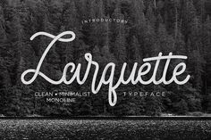 Larquette Typeface by ndro on @creativemarket