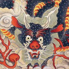 Minwha(Korean Folk art)-Blue dragon by kimsingu