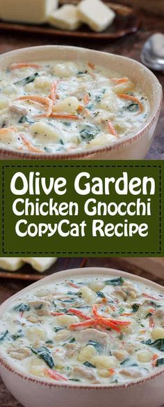 Chicken And Gnocci, Chicken Veggie Soup, Canned Chicken, Chicken Chili, Rotisserie Chicken, Olive Garden Gnocchi Soup, Restaurant Recipes, Dinner Recipes, Olive Garden Recipes