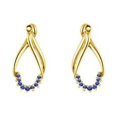 021 ct twt Sapphire Earring Jackets mounted in 14k Yellow Gold ** Want additional info? Click on the image.