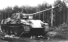 Panther in forest clearing #worldwar2 #tanks