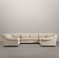 Belgian Roll Arm Upholstered U-Sofa Sectional | Sectionals | Restoration Hardware