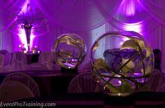 wedding reception decorations purple - Google Search