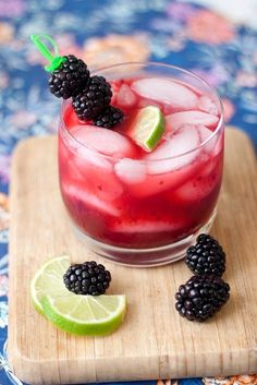 Blackberry Margaritas-YUM!