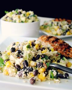 Chilled Black Bean Couscous Salad - Hello HealthyHello Healthy