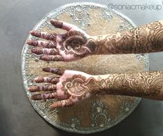 Bridal henna in jewelry style. Sonia c