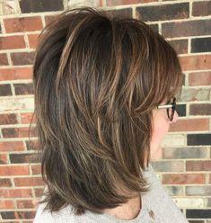 Classic Medium Length Shag Haircut