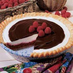 Chocolate Raspberry Pie.