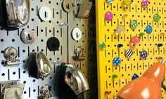 Combination magnetic board and pegboard