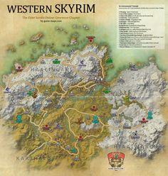 Western Skyrim Map ESO