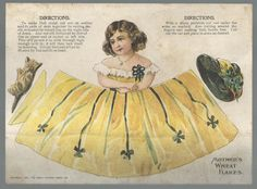 Akron Oh 1901 Mother's Wheat Flakes Uncut Conical Paper Doll Trade Card | eBay