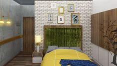 mock flat for Mantri Serenity Concrete Texture, Brick Patterns, Contemporary Bedroom, Serenity, Architects, Interior Design, Board, Nest Design, Home Interior Design