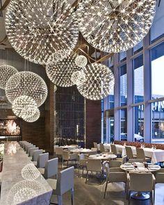 Raimond by Raimond Puts via Moooi | www.moooi.com| #moooi #lightingdesign #interiordesign #designinspiration #instadaily #interiordecorating #interiorstyling #interiorstyle #layers #restaurant #hospitality #architecture #project Deco Luminaire, Luminaire Design, Hula Hoop Chandelier, Dining Chandelier, Chandelier Ideas, Globe Chandelier, Deco Design, Design Design, Cafe Design