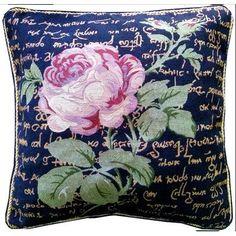 Tache Home Fashion Solitary Rose Cushion Cover