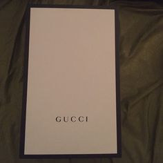 Authentic Gucci magnetic bag box 15 x 10 Authentic Gucci black and white 16 long 10 wide magnetic closure bag box. Gucci Bags