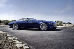 When the Mercedes-Maybach cabriolet 6 was introduced at the Monterey Car Week in California people could help but stare in awe. When the Mercedes-Maybach cabriolet 6 was introduced at the Monterey Mercedes Maybach, Van Mercedes, Bmw, Dream Cars, Pebble Beach Concours, Cabriolet, Car Shop, Automotive Design, Electric Cars