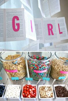 Mommy to Be was Craving Capn' Crunch Berries so this is a Cereal Bar Baby Shower