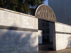 Umschlagplatz Monument in the former Jewish ghetto in Warsaw, Poland.