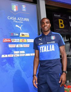Angelo Ogbonna of Italy poses for a photo at the end of the press conference at Casa Azzurri on June 11, 2016 in Montpellier, France.
