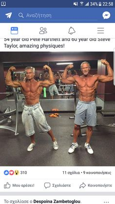 Pete Hartnett 54 years old, Steve Taylor 60 years old. #over40fitnessmen, #seniorfitness