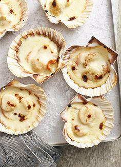 Valentine Warner's scallops Mornay